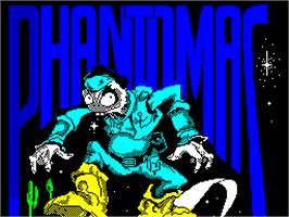 Title screen of Phantomas on the Sinclair ZX Spectrum.
