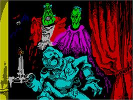 Title screen of Phantomas 2 on the Sinclair ZX Spectrum.