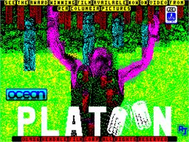 Title screen of Platoon on the Sinclair ZX Spectrum.