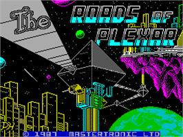 Title screen of Plexar on the Sinclair ZX Spectrum.