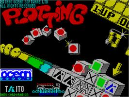 Title screen of Plotting on the Sinclair ZX Spectrum.