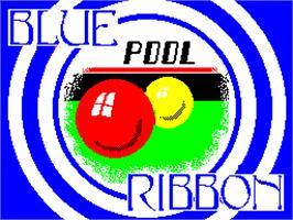 Title screen of Pool on the Sinclair ZX Spectrum.