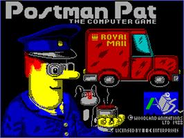 Title screen of Postman Pat on the Sinclair ZX Spectrum.