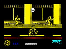 Title screen of Predator 2 on the Sinclair ZX Spectrum.