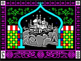 Title screen of Prince of Persia on the Sinclair ZX Spectrum.