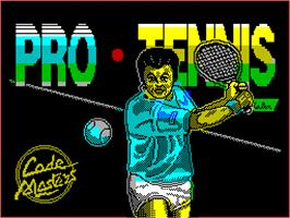 Title screen of Pro Tennis Simulator on the Sinclair ZX Spectrum.