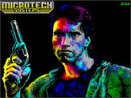 Title screen of Prvá Akcia on the Sinclair ZX Spectrum.