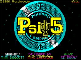 Title screen of Psi-5 Trading Company on the Sinclair ZX Spectrum.
