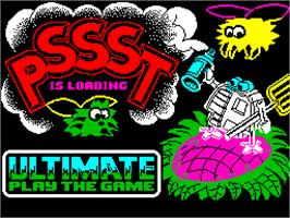 Title screen of Pssst on the Sinclair ZX Spectrum.