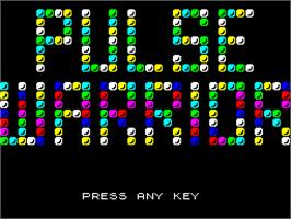 Title screen of Pulse Warrior on the Sinclair ZX Spectrum.