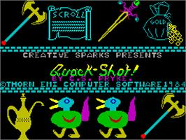 Title screen of Quackshot on the Sinclair ZX Spectrum.