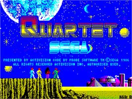 Title screen of Quartet on the Sinclair ZX Spectrum.