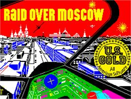 Title screen of Raid Over Moscow on the Sinclair ZX Spectrum.