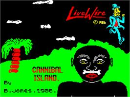Title screen of Rainbow Islands on the Sinclair ZX Spectrum.
