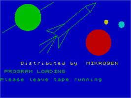 Title screen of Return to Eden on the Sinclair ZX Spectrum.