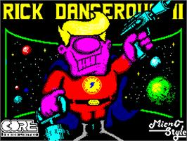 Title screen of Rick Dangerous II on the Sinclair ZX Spectrum.