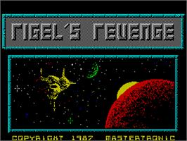 Title screen of Rigel's Revenge on the Sinclair ZX Spectrum.