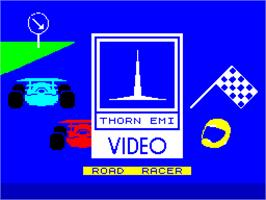 Title screen of Road Raider on the Sinclair ZX Spectrum.
