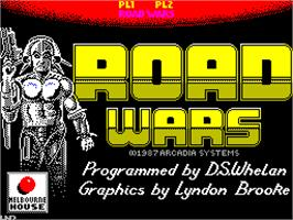 Title screen of Roadwars on the Sinclair ZX Spectrum.