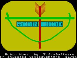 Title screen of Robin Hood: Legend Quest on the Sinclair ZX Spectrum.