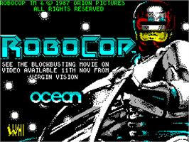 Title screen of RoboCop on the Sinclair ZX Spectrum.