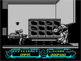 Title screen of RoboCop 3 on the Sinclair ZX Spectrum.