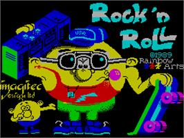 Title screen of Rock 'n Roll on the Sinclair ZX Spectrum.