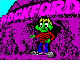 Title screen of Rockford: The Arcade Game on the Sinclair ZX Spectrum.