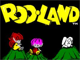 Title screen of Rodland on the Sinclair ZX Spectrum.
