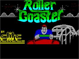 Title screen of Roller Coaster on the Sinclair ZX Spectrum.