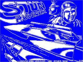 Title screen of S.T.U.N. Runner on the Sinclair ZX Spectrum.