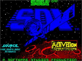 Title screen of SDI: Strategic Defense Initiative on the Sinclair ZX Spectrum.