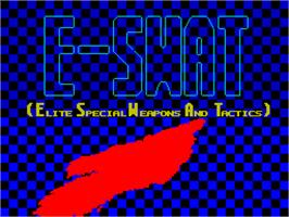 Title screen of SWAT on the Sinclair ZX Spectrum.