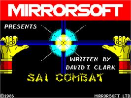 Title screen of Sai Combat on the Sinclair ZX Spectrum.