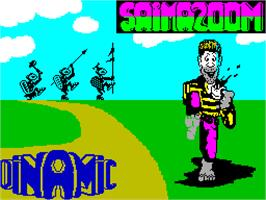 Title screen of Saimazoom on the Sinclair ZX Spectrum.