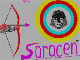 Title screen of Saracen on the Sinclair ZX Spectrum.