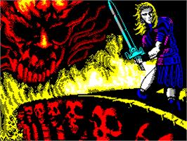 Title screen of Satan on the Sinclair ZX Spectrum.