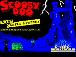 Title screen of Scooby Doo on the Sinclair ZX Spectrum.