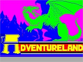 Title screen of Scott Adams' Graphic Adventure #1: Adventureland on the Sinclair ZX Spectrum.