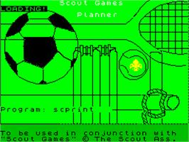Title screen of Scott Adams Scoops on the Sinclair ZX Spectrum.