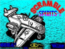 Title screen of Scramble Spirits on the Sinclair ZX Spectrum.