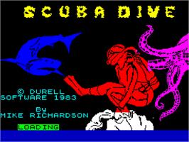 Title screen of Scuba Dive on the Sinclair ZX Spectrum.