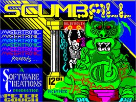 Title screen of Scumball on the Sinclair ZX Spectrum.