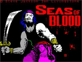 Title screen of Seas of Blood on the Sinclair ZX Spectrum.