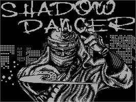 Title screen of Shadow Dancer on the Sinclair ZX Spectrum.