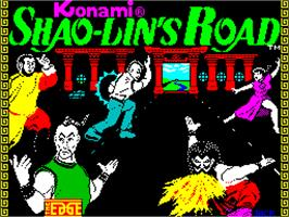 Title screen of Shao Lin's Road on the Sinclair ZX Spectrum.