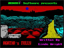 Title screen of Sharkey's Moll on the Sinclair ZX Spectrum.