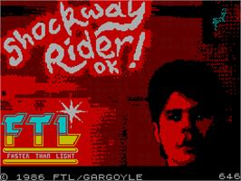 Title screen of Shockway Rider on the Sinclair ZX Spectrum.