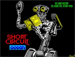 Title screen of Short Circuit on the Sinclair ZX Spectrum.