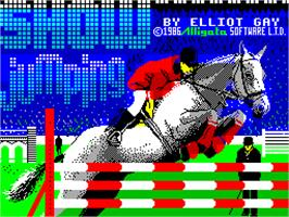 Title screen of Show Jumping on the Sinclair ZX Spectrum.